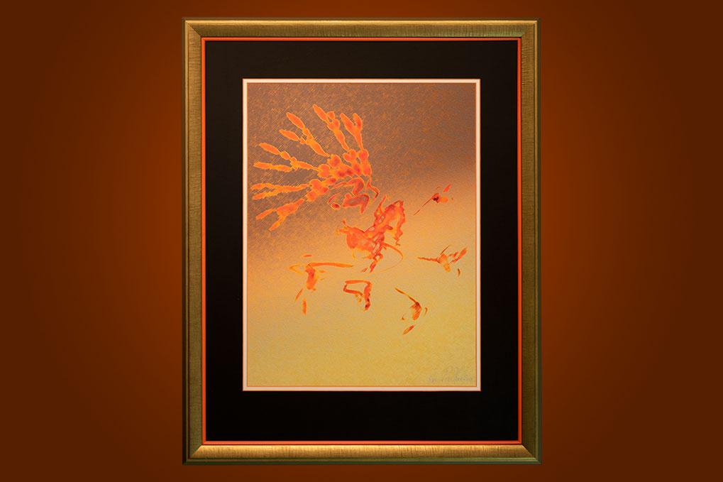 Firebird 65 x 80 cm